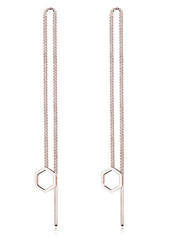 Elli Paar Ohrhänger »Hexagon Geo Minimal 925 Sterling Silber« kaufen
