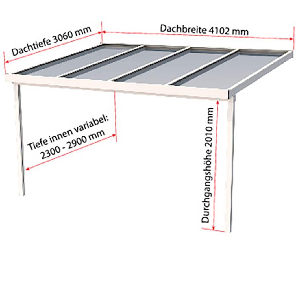 GUTTA Terrassendach »Premium«, BxT: 410x306 cm, Dach Acryl bronce