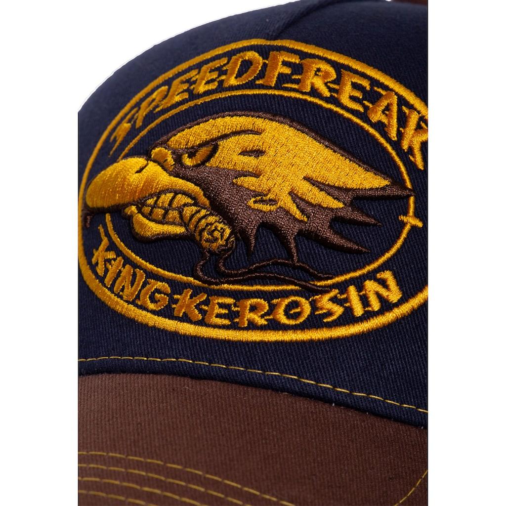 KingKerosin Trucker Cap »Speedfreak«, mit kontrastierender Stickerei