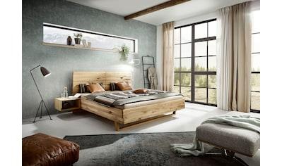 ADA premium Massivholzbett »Gisele«, inkl. Nachtkonsolen, wahlweise mit Matratze und... kaufen