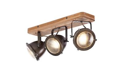 Brilliant Leuchten Carmen Wood Spotbalken 3flg burned steel/holz kaufen