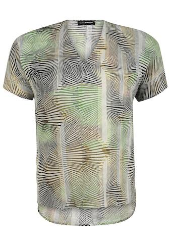 Doris Streich Shirtbluse »mit V-Ausschnitt«, und Allover-Print kaufen
