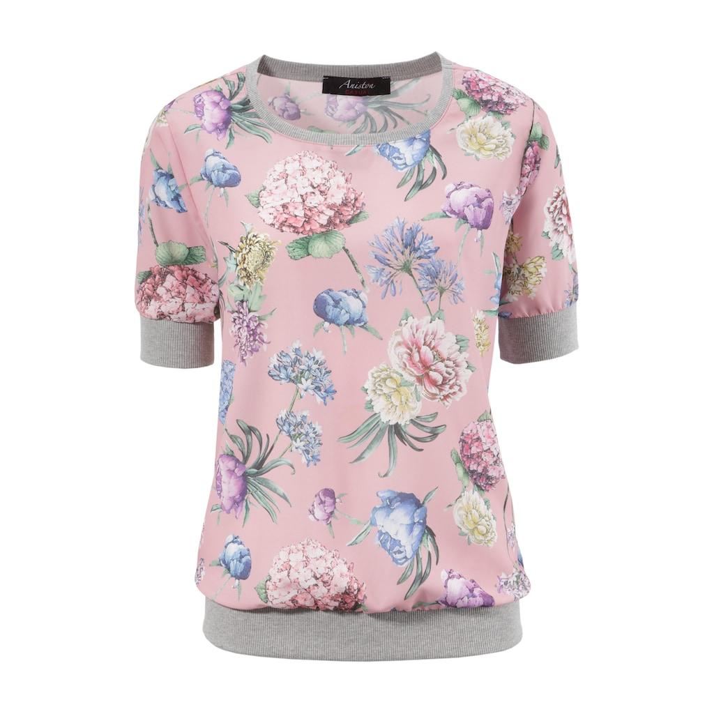 Aniston CASUAL Shirtbluse, mit sportiven Rippbündchen