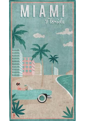 Seahorse Strandtuch »Miami«, (1 St.), mit Miami Beach Aufdruck kaufen
