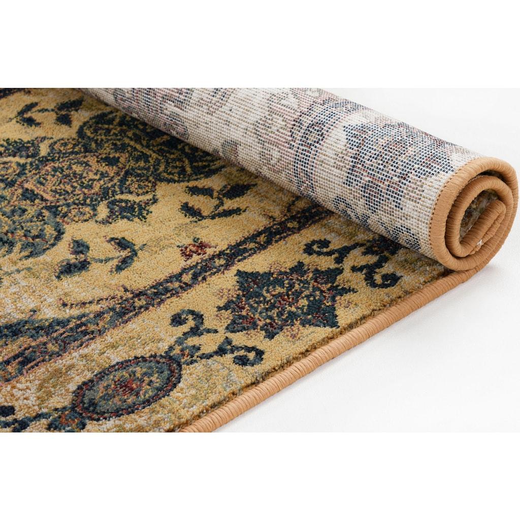 THEKO Teppich »Gabiro 3070«, rechteckig, 10 mm Höhe, Kurzflor, klassisches Design, Wohnzimmer