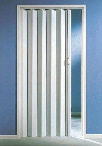 Falttür, Höhe nach Maß, weiß ohne Fenster kaufen