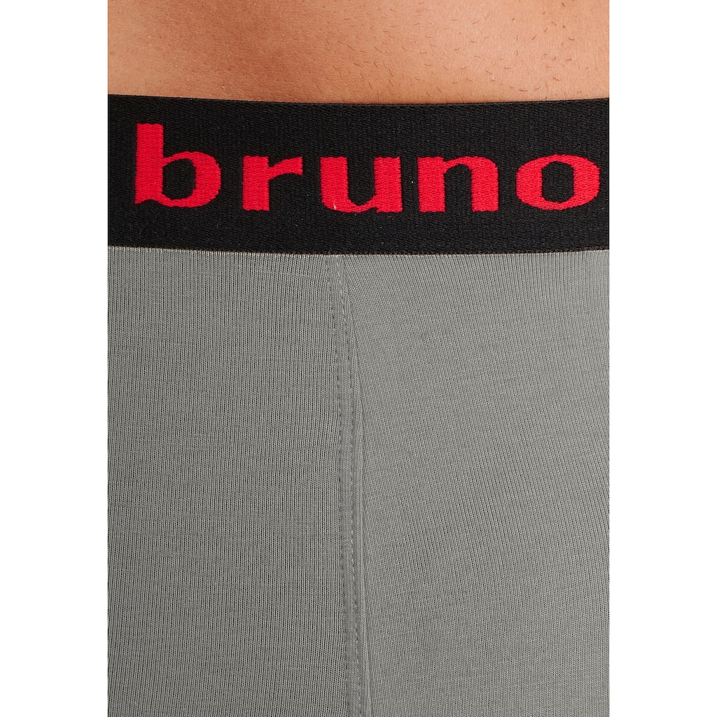 Bruno Banani Langer Boxer, (4 St.), mit schwarzem Logobund