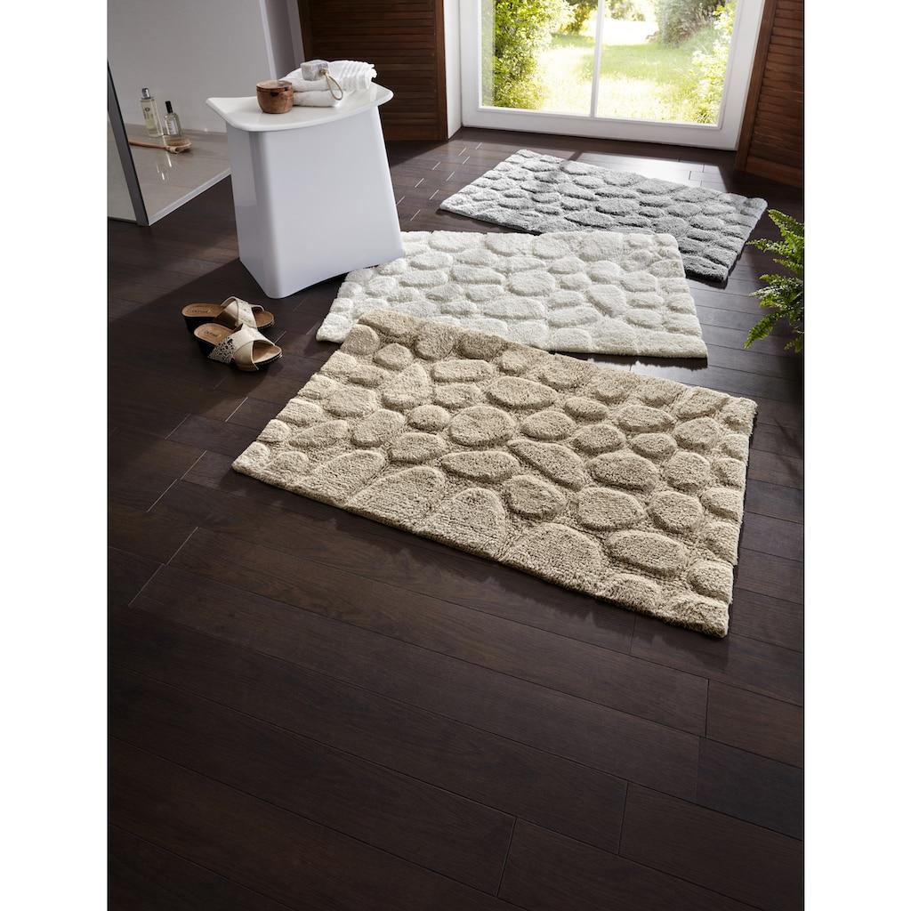 Badteppich mit Hoch-Tief-Effekt