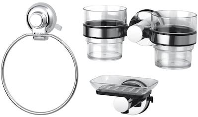 GSW Badaccessoires-Sets »HOOKIE System® 3-teilig«, Intelligenter Saughaken, roter Ring zeigt Saugkraftverlust kaufen