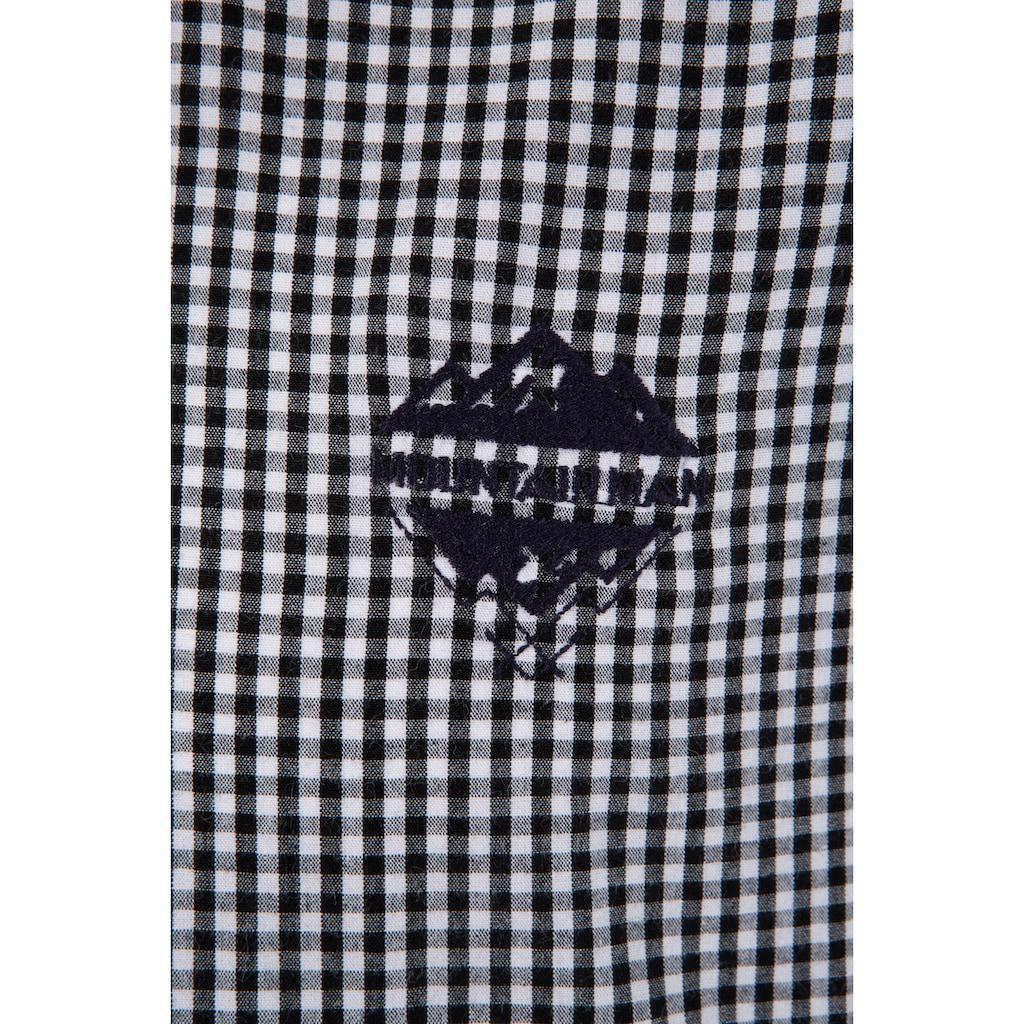 Andreas Gabalier Kollektion Trachtenhemd, Herren in Karooptik mit Mountainman-Logo Applikation