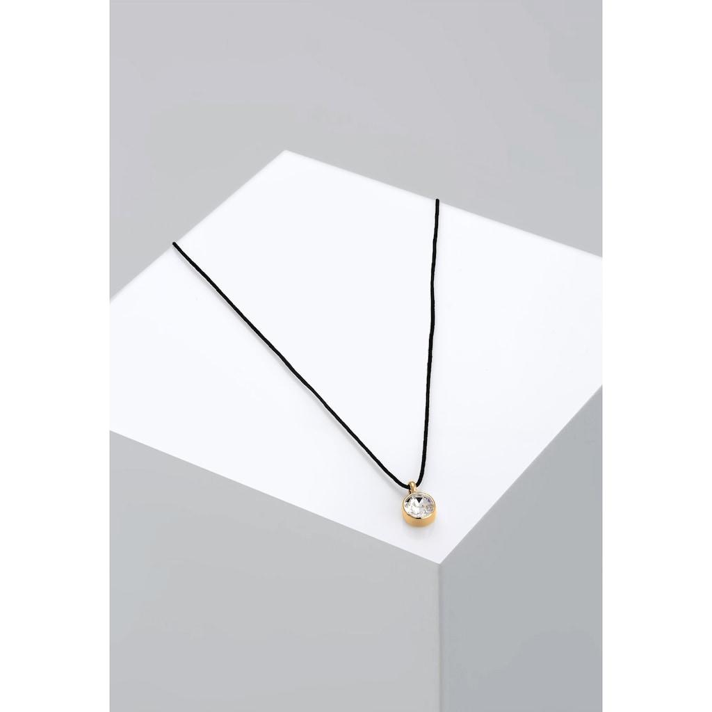 Elli Collierkettchen »Basic Choker Kristalle 925 Silber«