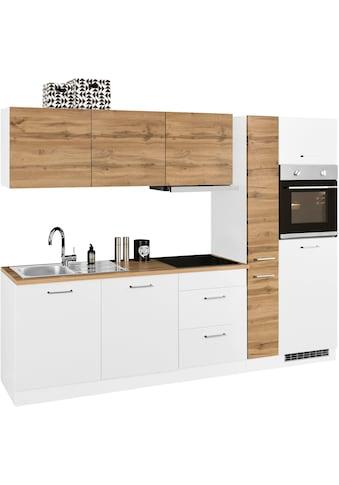 HELD MÖBEL Küchenzeile »Kehl«, mit E-Geräten, Breite 270 cm, wahlweise mit Induktionskochfeld kaufen