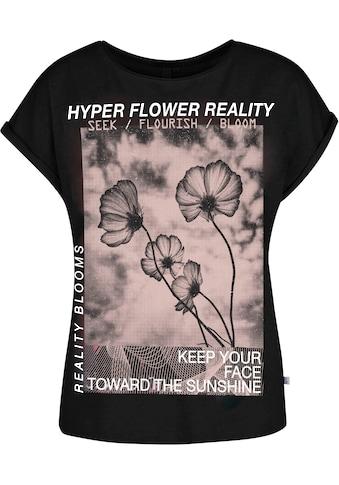 Q/S designed by T-Shirt, mit großem, sommerlichen Frontprint kaufen
