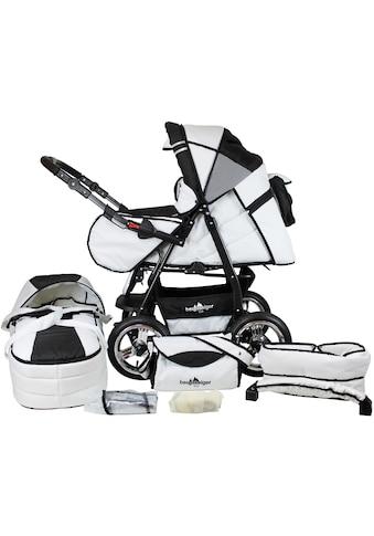 bergsteiger Kombi-Kinderwagen »Rio, black & white, 3in1«, mit Lufträdern; Made in... kaufen