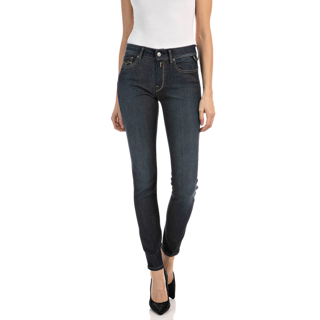Replay Skinny-fit-Jeans »New Luz - Hyperflex re-used«, is made with recycled materials