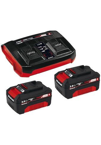 Einhell Akku-Set »2x 3,0Ah & Twincharger Kit«, 3000 mAh, 18,0 V kaufen