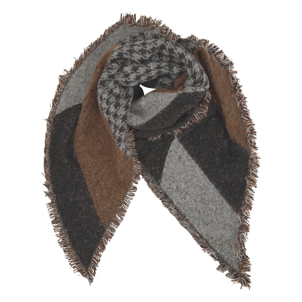 Schal in Patchoptik