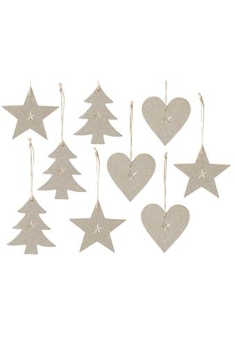 CHRISTMAS GOODS by Inge Dekohänger »Stern  -  Baum  -  Herz« (Set, 9 Stück) kaufen