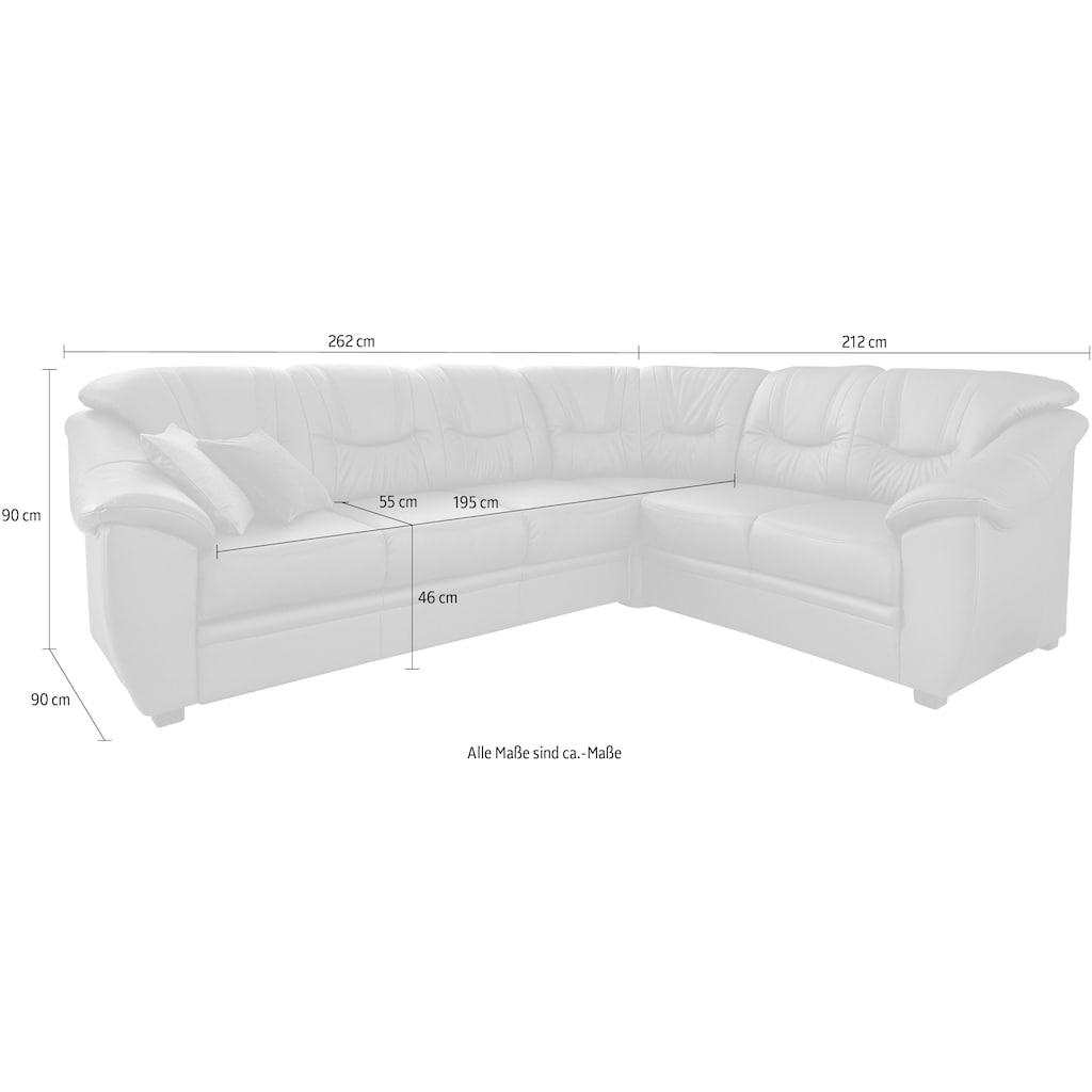 sit&more Ecksofa, wahlweise mit Bettfunktion, inklusive Federkern, frei im Raum stellbar