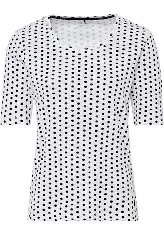 Olsen Rundhalsshirt, mit gepunktetem Allover-Druck aus organic cotton kaufen
