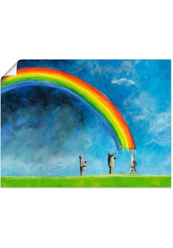 Artland Wandbild »Regenbogen malen« kaufen