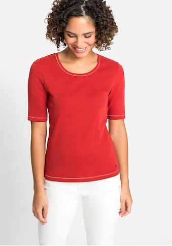 Olsen Rundhalsshirt, aus reiner Baumwolle kaufen