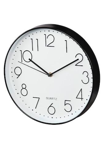 """Hama Wanduhr """"Elegance"""", Ø 30 cm, geräuscharm, Schwarz/Weiß »Uhr« kaufen"""