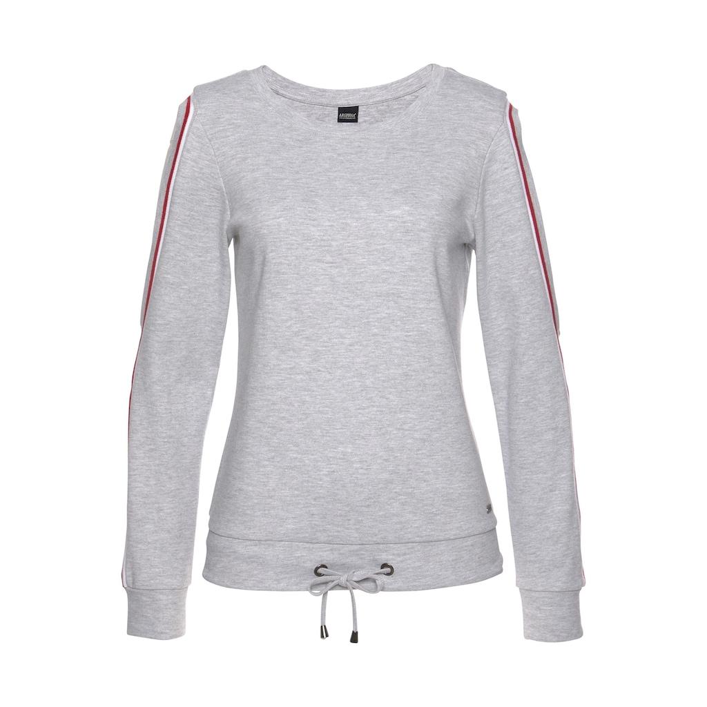 Arizona Sweatshirt »mit Cold Shoulder und Tunnelzug«, Mit Cold Shoulders