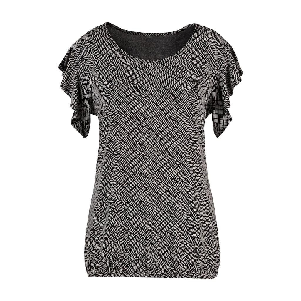 Vivance T-Shirt, mit kurzen Volantärmelchen