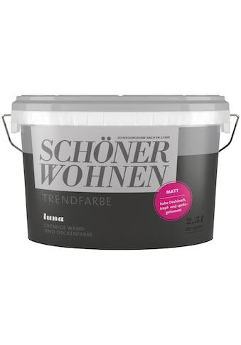 SCHÖNER WOHNEN-Kollektion Wand- und Deckenfarbe »Trendfarbe Luna, matt«, 2,5 l kaufen