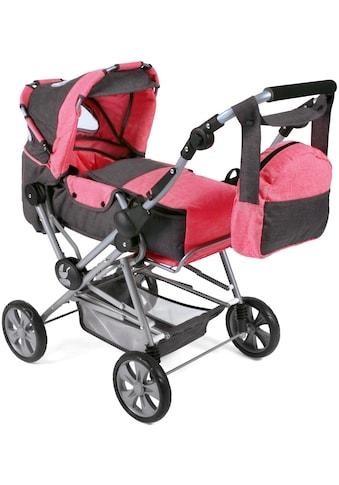 CHIC2000 Kombi-Puppenwagen »Road Star, Anthrazit-Pink«, mit herausnehmbarer Tragetasche kaufen