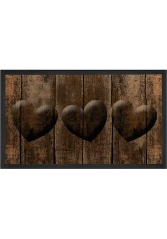 HANSE Home Fußmatte »3 Hearts«, rechteckig, 5 mm Höhe, Schmutzfangmatte, In- und... kaufen