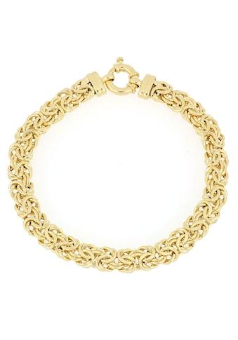 Firetti Goldarmband »Königskettengliederung, 7,5 mm breit, halbmassiv und in Glanzoptik« kaufen