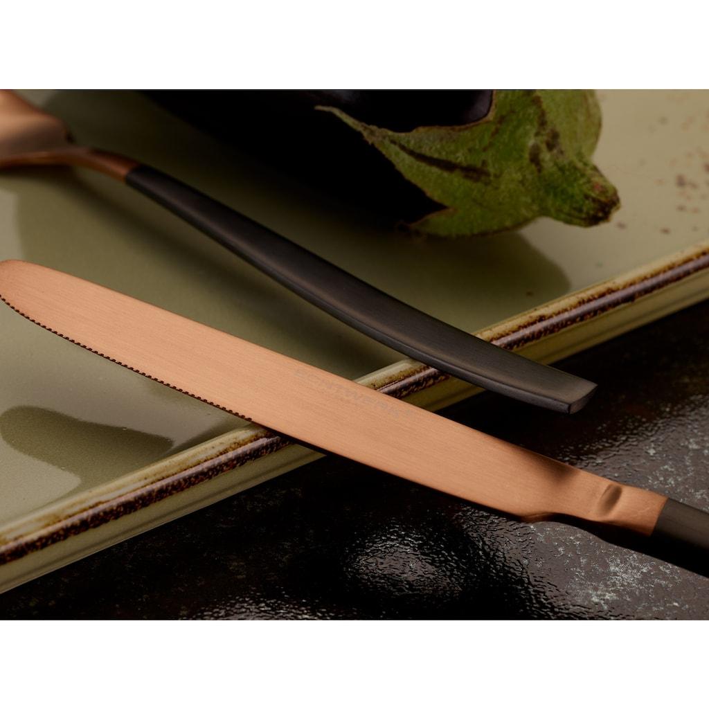 ECHTWERK Besteck-Set »Positano Due«, (Set, 20 tlg.), Edelstahl 18/10 PVD beschichtet, zweifarbig (Bronze/Black), 20 Teile für 4 Personen