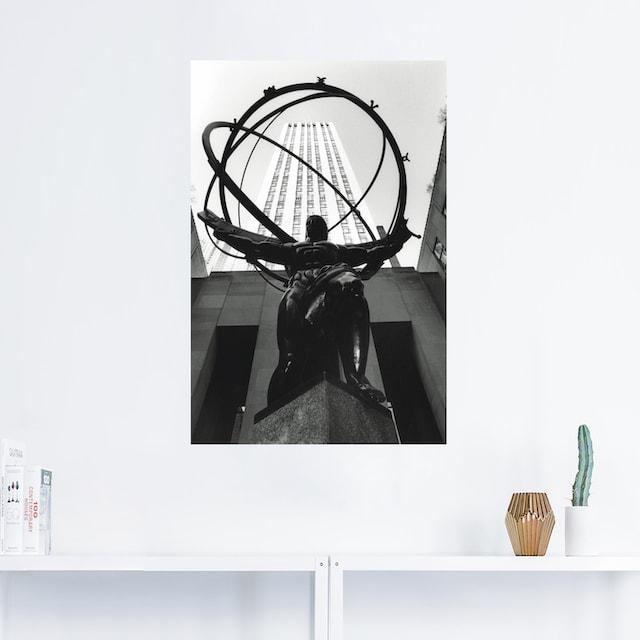 Artland Wandbild »Atlas bei dem Rockefeller Center«