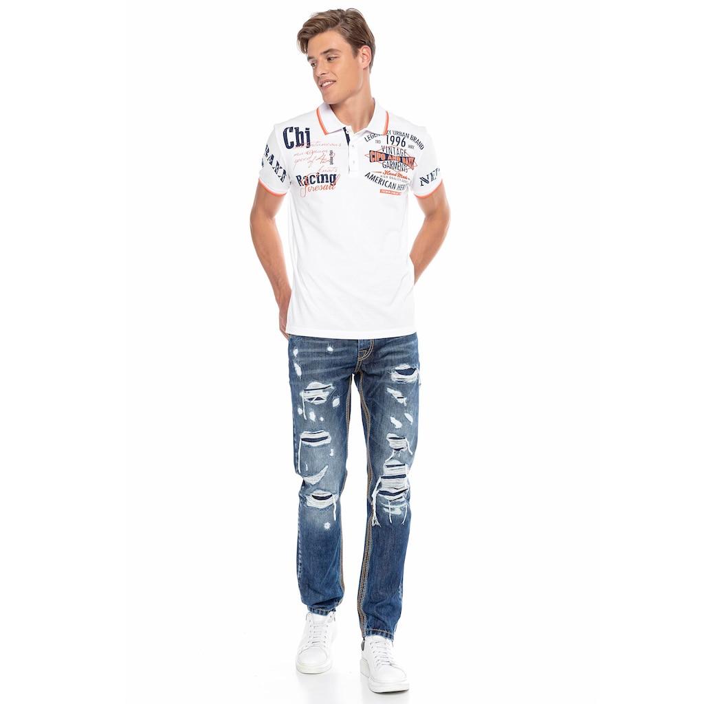 Cipo & Baxx Straight-Jeans, im ausgefallenen Design