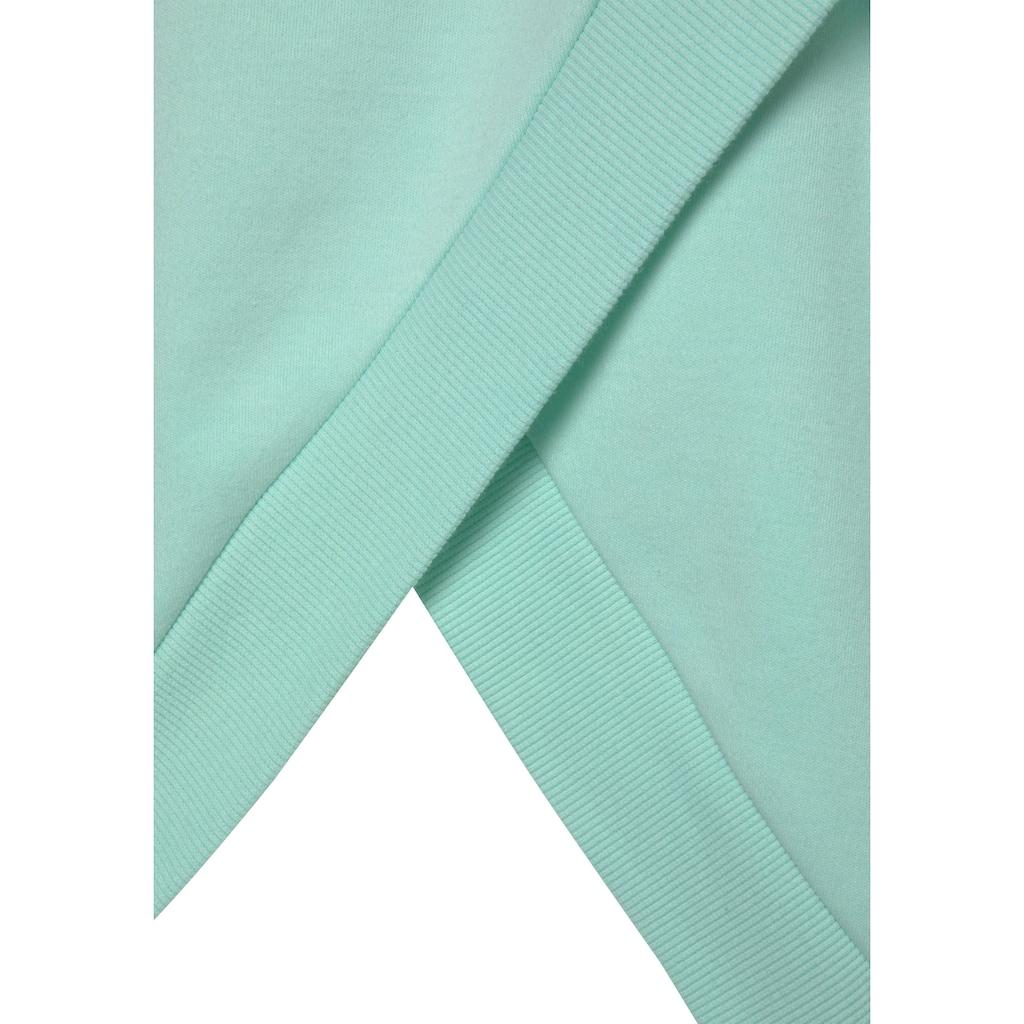LASCANA Kapuzensweatshirt, mit offenem Rückenteil in Layeroptik