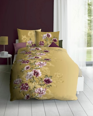 Bettwäsche mit Blumenmuster aus Bio-Baumwolle