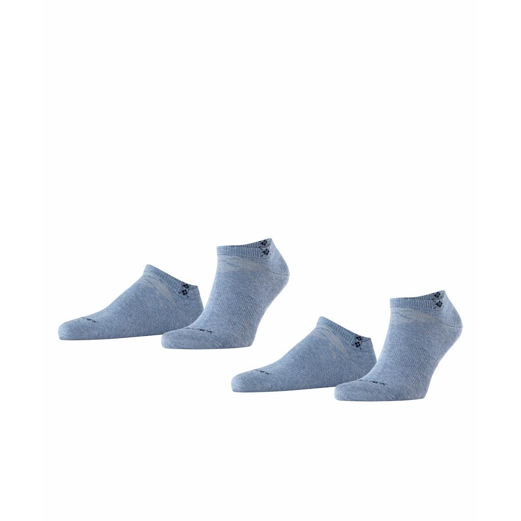 Burlington Sneakersocken »Everyday 2-Pack«, (2 Paar), aus weicher gekämmter Baumwolle