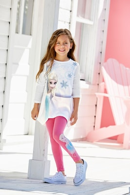 Frozen Die Eisk/önigin Anna /& ELSA Tunika Langarmshirt Leggings Set