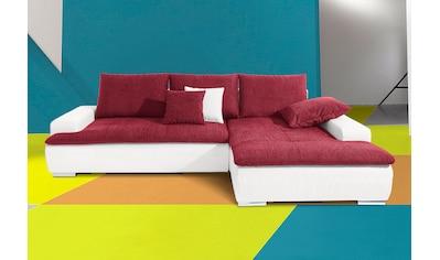 Nova Via Ecksofa, wahlweise mit Kaltschaum (140kg Belastung/Sitz), RGB-LED-Beleuchtung und Bettfunktion kaufen