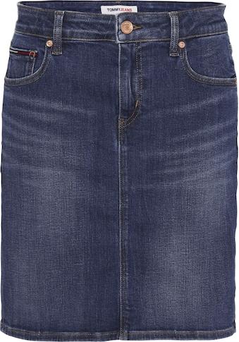 TOMMY JEANS Jeansrock »CLASSIC DENIM SKIRT HLDBST«, mit Tommy Jeans Logo-Badge & Flag kaufen