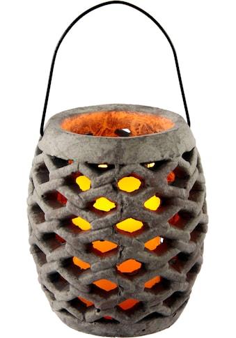 I.GE.A. Laterne »Keramik Windlicht mit LED«, Maße (H): 17 cm kaufen