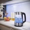 Arendo Edelstahl Glas Wasserkocher mit LED Beleuchtung
