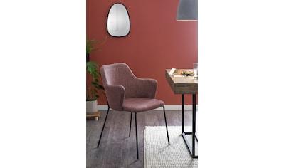 SalesFever Esszimmerstuhl, im 2er-Set, bequemer Armlehnstuhl, Polsterstuhl kaufen