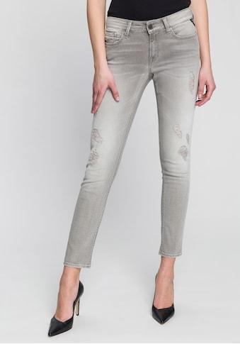 Replay Skinny-fit-Jeans »New Luz«, Five-Pocket mit coolen Destroyed-Effekten kaufen