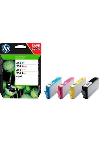 HP »hp 364 , original, sw/c/m/y/ 4 St./Pack.« Tintenpatrone kaufen