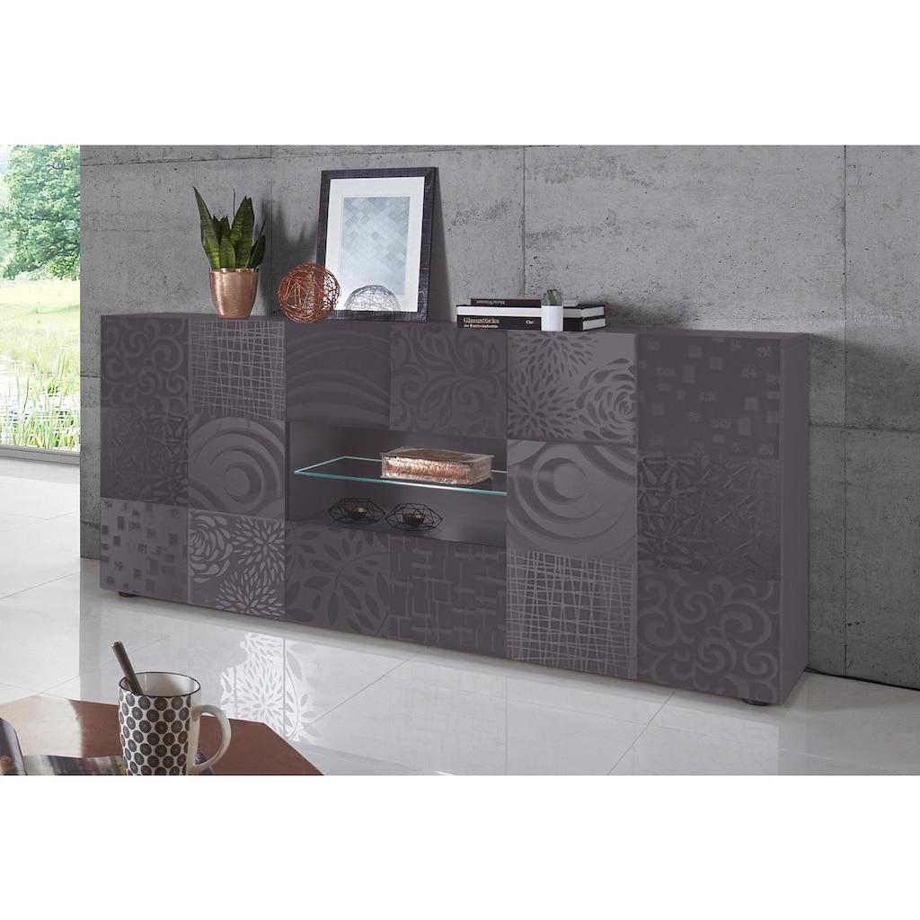 LC Sideboard »Miro«, Breite 181 cm mit dekorativem Siebdruck