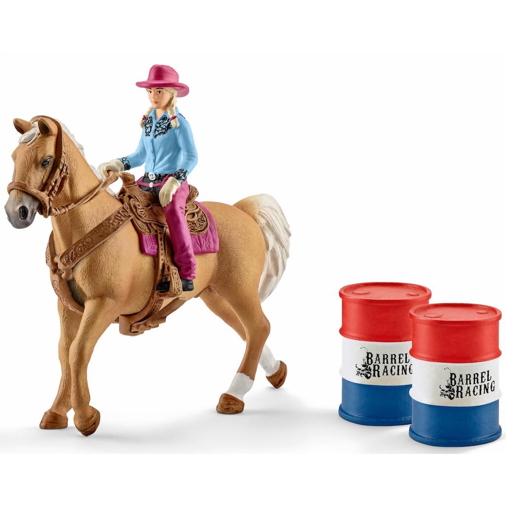 """Schleich® Spielfigur """"Farm World, Barrel racing mit Cowgirl (41417)"""", (Set)"""