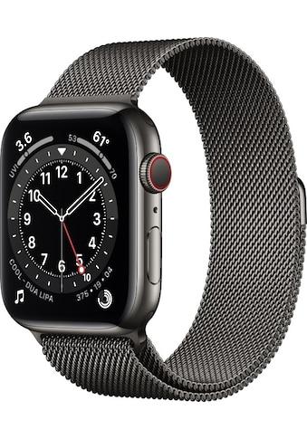 Apple Smartwatch »Apple Watch Series 6 GPS + Cellular, Edelstahlgehäuse, 44 mm mit Milanaise Armband«, ( ) kaufen